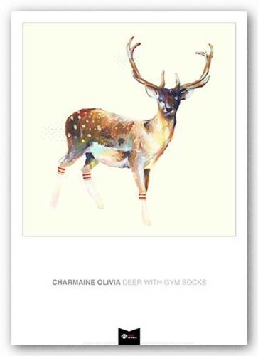 - Deer Wearing Gym Socks by Charmaine Olivia 13.75