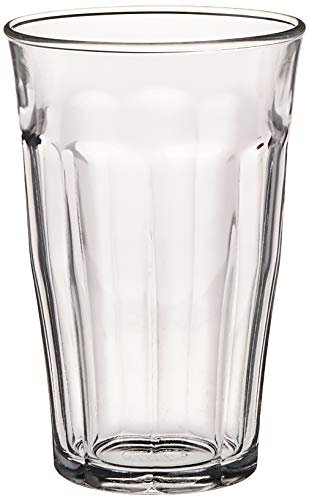 Duralex Made In France Picardie Tumbler Set of 6, 17.62 oz (Glass Tumblers)