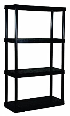 Gracious Living 4 Medium Duty Shelf Unit, Black
