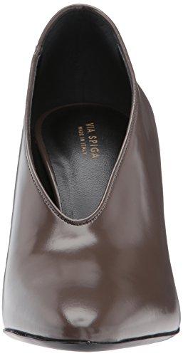Femme Via Leather à Bark Heel Épais Pump Block Talons Chaussures SpigaBARAN baran z6wrqz