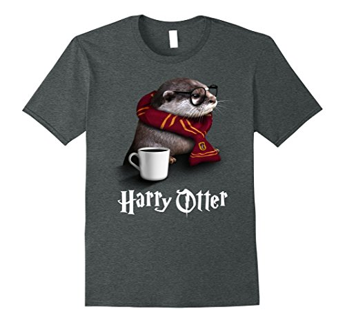 Mens Funny Otter T-shirt - Harry Otter Shirt for Otter lover Large Dark Heather