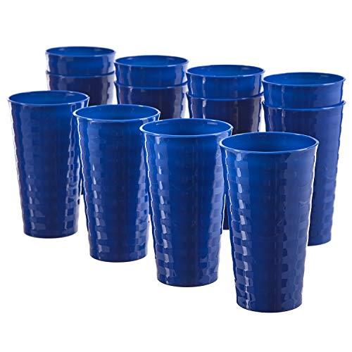 Splash 20-ounce Unbreakable Plastic Tumblers | set of 12 Blue