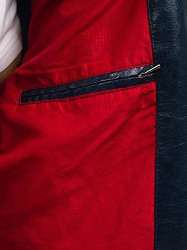 Quotidiano Pelle Stagione ex389 Giacca In Uomo Bolf A Mezza – Chiusa Blu Zip Stile 4d4 Da wqvpaFaXxE