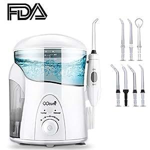 QQcute Water Flosser Dental Electric Oral Irrigator, 600ML Capacity 7 Multifunctional Jet Tips, 10 Pressure Settings Gum Flosser for Teeth and Braces (1700 Pulses, Home Use)
