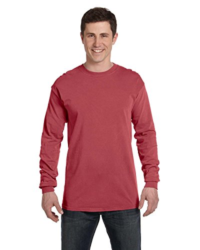 Comfort Colors 6014 Adult Heavyweight Ringspun Long Sleeve T-Shirt - Brick - -