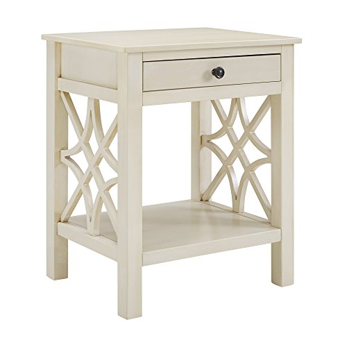 Linon  End Table, Antique White