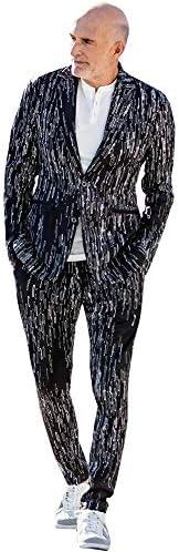 (ウノピゥウノウグァーレトレ)4WAY総柄グラフィックジャケット メンズ テーラード &ロングパンツ 上下 セットアップ