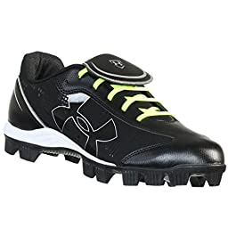 UNDER ARMOUR GLYDE RM CC BLACK/WHITE WOMENS SOFTBALL SHOES US 11 M EURO 43
