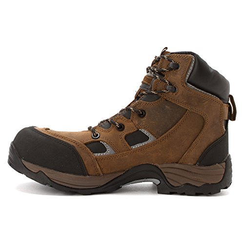 Toe Puncture Crazy Crazyhorse Proof Work Boots Horse Composite MCRAE Brown UtgTvng