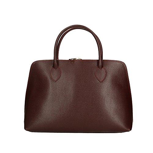 Aren Bolso de mano para mujer hecho en Italia - 37x27x12 Cm Marrón Oscuro