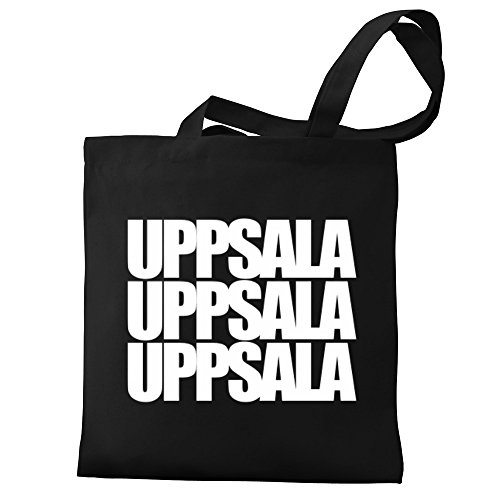 Uppsala Uppsala Canvas three Eddany Eddany Bag words Tote three words RwqI5P