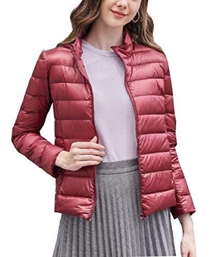 Gocgt Womens Packable Ultra Light Weight Short Down Jacket Coats Wine Red