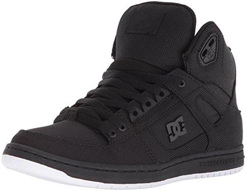 DC Women's Pure High-Top TX SE Skate Shoe, Black, 6 B US