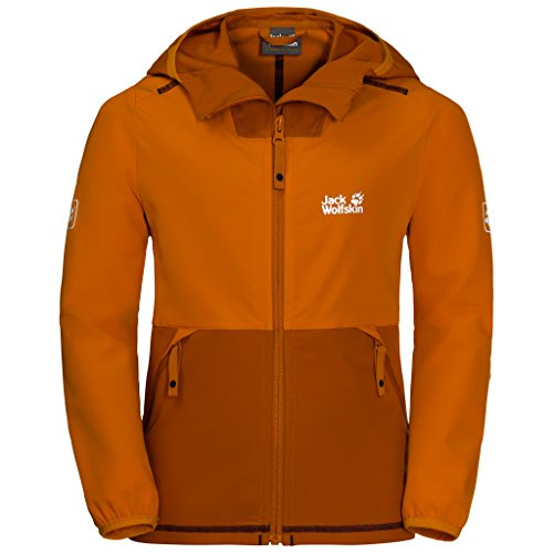 Jack Wolfskin Boys Turbulence Jacket, 152 (11-12 Years Old), Desert Orange by Jack Wolfskin