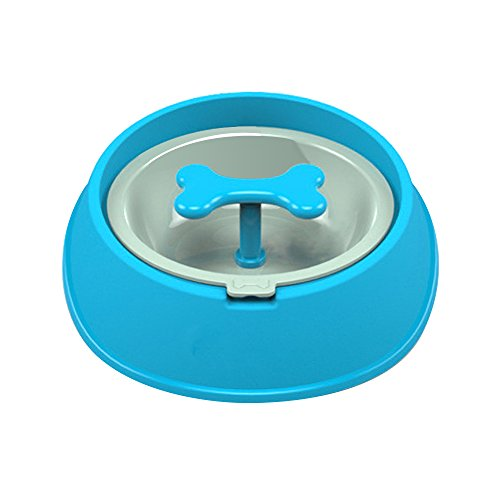Dog Slow Feeder Bowl Healthy Foraging Bowl, Anti Gulping Bloat Pet Bowl, Interactive Cat Food Bowl, Skidproof Drink Water Bowl, Slower Feeding Dishes (Small)