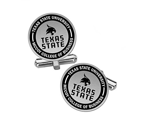 McCoy College of Business Cuff Links   Texas State University by College Jewelry