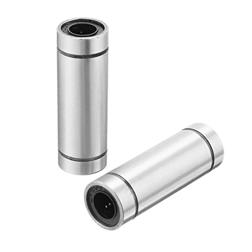 uxcell 2pcs LM8LUU 8x15x45mm Double Side Rubber Seal Linear Motion Ball Bearing Bushing
