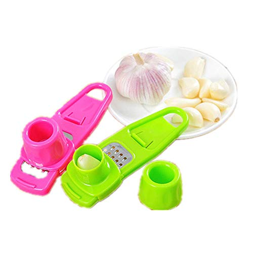 SAYGOGO Two Packs Garlic Grater,Kitchen Tools, Home Grinding Garlic, Garlic, Creative Multi-Purpose Grinding Ginger, Garlic, Garlic Press