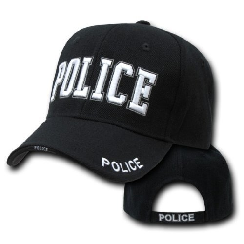 [9383	Police Raised Embroidery Cap (adj)] (Cop Hat)