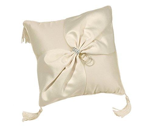 Lillian Rose Elegant Ivory Satin Wedding Ring (Ivory Satin Ring Pillow)
