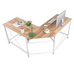 NOTE:       We use 2 pieces protective boards for protection on the top and bottom of the box in the package. These 2 pieces are brown and NOT the desktops.                This L shaped desk offers a sleek modern design crafted with du...