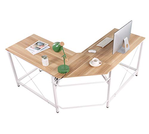 Mr IRONSTONE L-Shaped Desk Corner Table Computer Desk 59