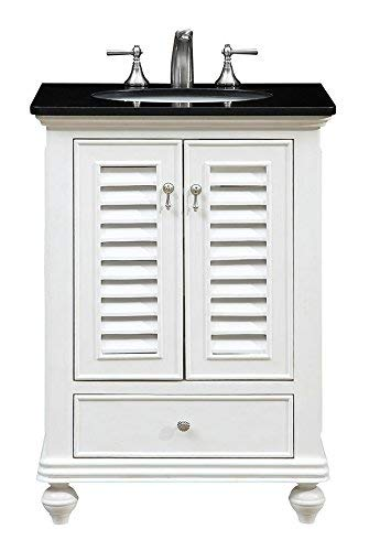 "Elegant Decor VF-1022 Single Bathroom Vanity Set, 25"", Antique White/VF-1022"
