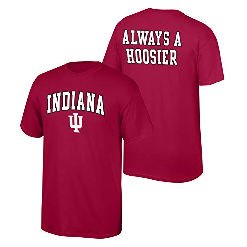 Elite Fan Shop NCAA Men's Indiana Hoosiers T Shirt Team Color Back Indiana Hoosiers Red Medium