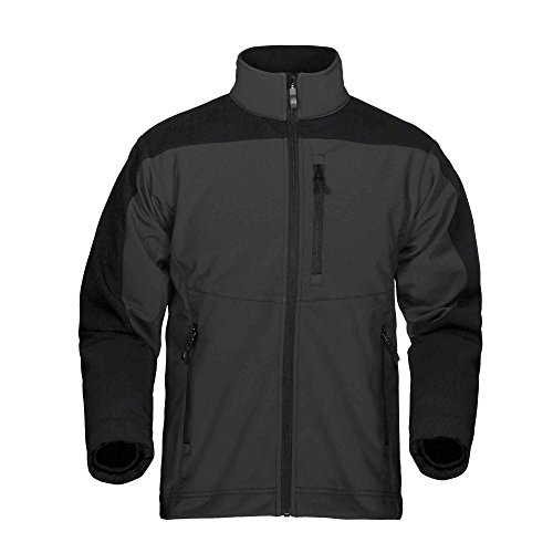 Storm Creek Men's Sean Velvet Lined Performance Softshell Jacket, Titanium/Black, X-Large ()