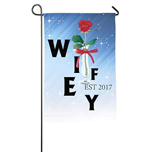 Wifey Est 2017 Bridal Shower Bridal Party Home Family Party Flag Hipster Welcomes The Banner Garden -