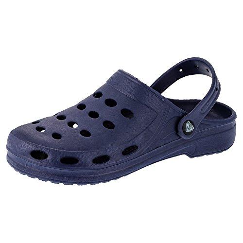 2Surf Damen Clogs Garten Schuhe Freizeit Pantoffel Strand Pool in Vielen Farben M194dbl Dunkel Blau
