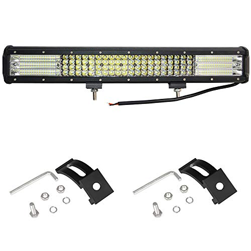 Willpower 20 Inch 510W LED Light Bar Quad Row Spot & Flood Combo Work Lights Offroad Fog Driving Lights for Trucks Pickup Jeep SUV ATV UTV Boat, 2 years Warranty