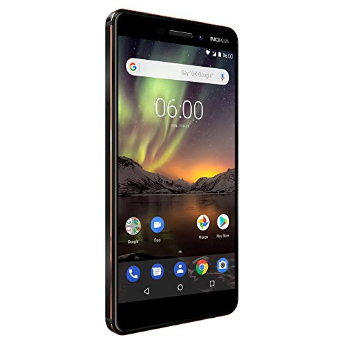 Nokia 6.1 (2018) – 32 GB – Unlocked Smartphone (AT&T/T-Mobile) – 5.5″ Screen – Black