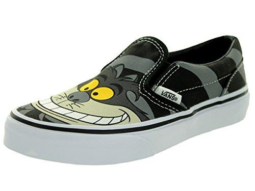 VANS KIDS K CLASSIC SLIP-ON CHESHIRE CAT BLACK SIZE (Vans Slip On Boys)