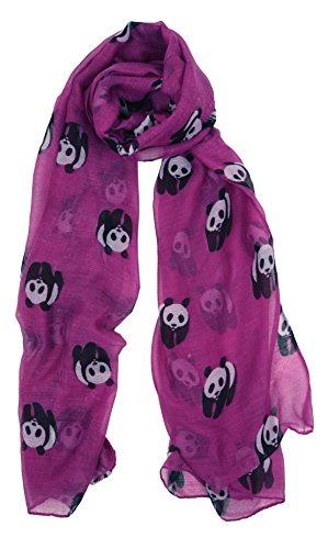 Love Lakeside-Women's Animal Lover's Lightweight, Soft Panda Print Scarves (One, (Fun Scarf)