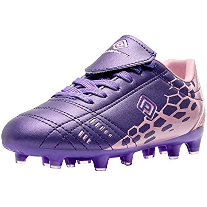 DREAM PAIRS Boys Girls Soccer Football Cleats Shoes(Toddler/Little Kid/Big Kid)