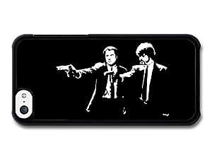 MMZ DIY PHONE CASEPulp Fiction Movie John Travolta Samuel Jackson Black and White Illustration case for ipod touch 5