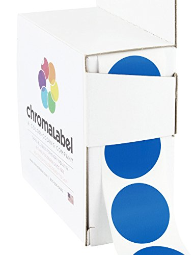 ChromaLabel 1 inch Color-Code Dot Labels | 1,000/Dispenser Box (Dark Blue)