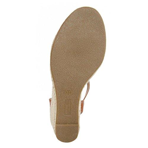 Chaussures compensées pour Femme MTNG 51846 WICAM BEIGE