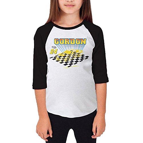 [MJJY Youth Girls Jeff Gordon-nascar Raglan Baseball T Shirt Black Size XL] (Nascar Tony Stewart Costumes)
