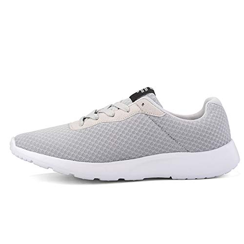 2019 Men Casual Shoes Man Mesh Breathable Sneakers Men Oxford Loafers Retro Lace Up Male Trainers Tenis Masculino Adulto Gray A 8.5