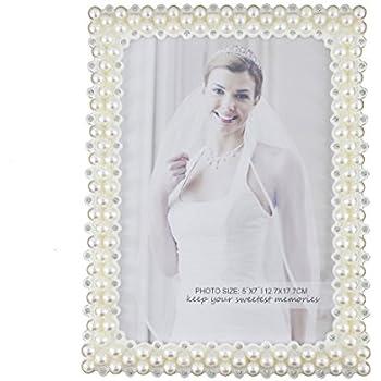Amazon.com - Daphne White Pearl 8x10 Picture Frame -