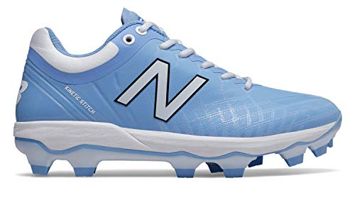 New Balance Men's 4040v5 Molded Baseball Shoe, Baby Blue/White, 6.5 2E US