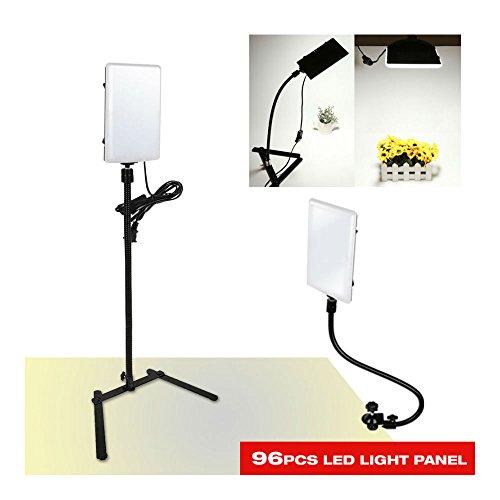 96 LED Gooseneck Photography Studio Video Light Panel Camera Photo Lighting by Unknown