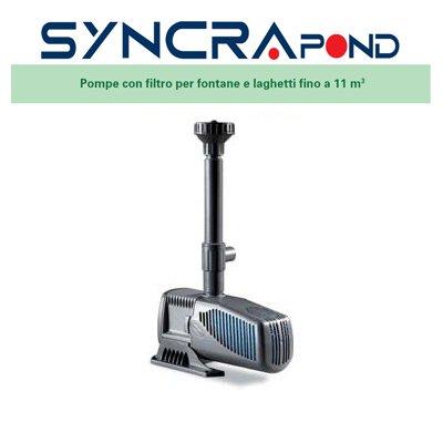 Sicce Syncra Pond 3.0 (2400 l/h 660 a 730 lt) Pompe pour Bassins et Fontaines 0701.0999756