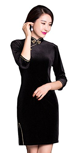 Angcoco Womens Vintage Republican Period Chinese Traditional Cheongsam Dress (Period Dress)