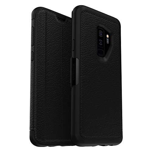 OtterBox Strada Series Case for Samsung Galaxy S9+ - Frustration Free Packaging - Shadow (Black/Pewter)