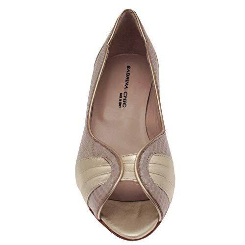 Chic Sabrina dorado mujer tacón con Zapatos OdTdqwRpn