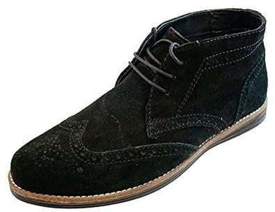 Desert Boots En Cuir Noir - Redtape Noir SZwkY7ms