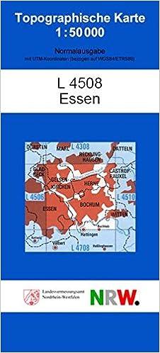 Karte Essen.Essen N Topographische Karten 1 50000 Tk 50 Nordrhein Westfalen